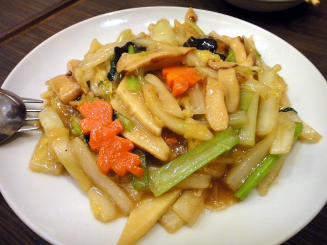 松茸のフカヒレ入り炒め
