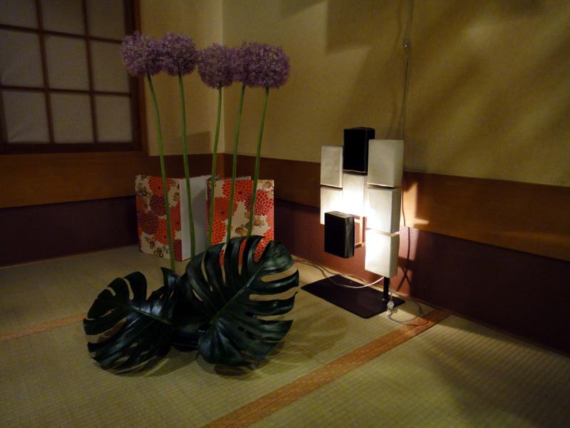 4つある小部屋を贅沢に使ったディスプレイ
