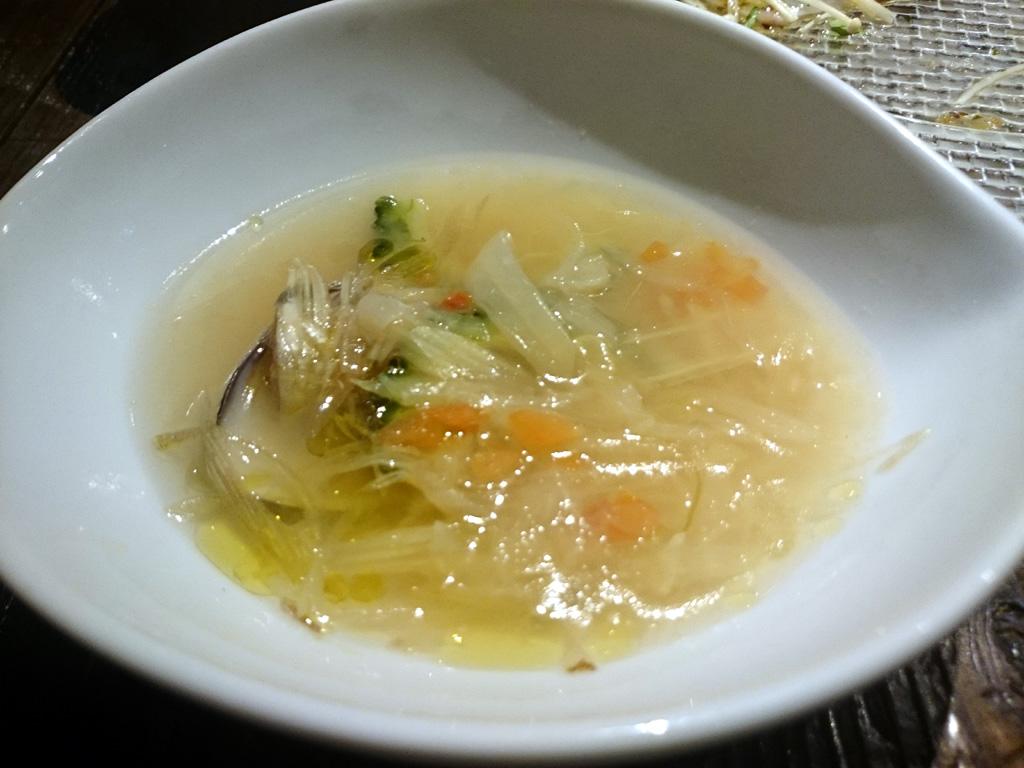 ハマグリとゴーヤのスープ